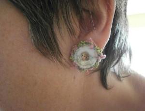 Filzkunst Ohrring